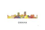Omaha Nebraska Skyline Reproduction procédé giclée par Marlene Watson