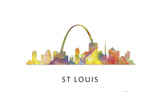 St Louis Missouri Skyline Reproduction procédé giclée par Marlene Watson