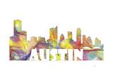 Austin Texas Skyline Mclr 2 Reproduction procédé giclée par Marlene Watson