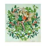 Holly and Ivy Lámina giclée por Linda Ravenscroft