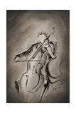The Cellist Giclée-Druck von Marc Allante