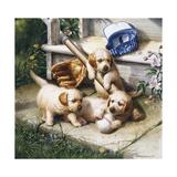 Puppies Giclee-trykk av Jackson, Michael