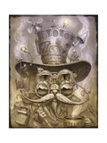 Steampunk Cat 2 Giclee Print by Jeff Haynie
