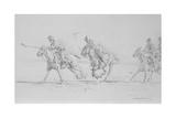 Polo Sketch Giclee-trykk av Jackson, Michael
