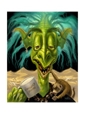 Fantasy Troll Not Enough Coffee Giclee Print by Jeff Haynie
