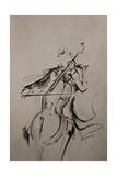 The Cellist Sketch Giclée-Druck von Marc Allante