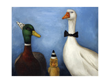 Duck Duck Goose Giclee Print by Leah Saulnier