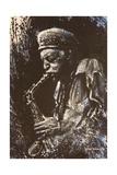 Man Playing Saxaphone Giclée-Druck von Michael Jackson