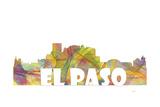 El Paso Texas Skyline Mclr 2 Reproduction procédé giclée par Marlene Watson