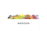 Madison Wisconsin Skyline Reproduction procédé giclée par Marlene Watson