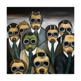 Outsider the Meeting Giclée-tryk af Leah Saulnier