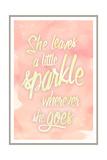 She leaves a sparkle 2 Giclée-Druck von Kimberly Glover