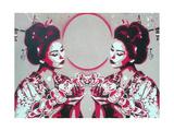 Mirror Geisha Giclee Print by  Abstract Graffiti