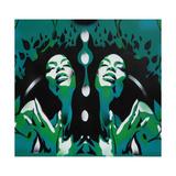 Edens hage Giclee-trykk av  Abstract Graffiti