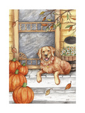 Autumn Golden Welcome Giclee Print by Melinda Hipsher