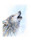 Howling Wolf Gicléedruk van Michelle Faber