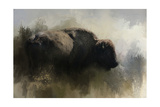 Abstract American Bison Giclée-tryk af Jai Johnson