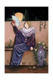 Pierrot with Fan Giclee Print by Judy Mastrangelo