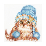 Winter Kitten Impressão giclée por Karen Middleton