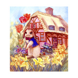 Parsley Bunny's House Giclee Print by Judy Mastrangelo