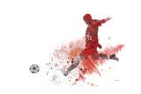 Soccer Player 01 Gicléedruk van Marlene Watson