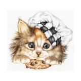 Cookie Kitten Impressão giclée por Karen Middleton