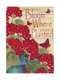 Bloom Where You are Planted Giclée-Druck von Laurie Korsgaden