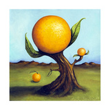 Orange Fruit Tree Giclee Print by Leah Saulnier