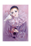Pierrot and Dove Giclee Print by Judy Mastrangelo