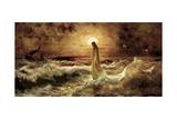 Christ on Water Gicléedruk van Jason Bullard