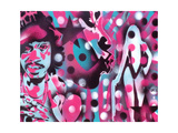 Pimp Daddy's Lounge Giclee-trykk av  Abstract Graffiti