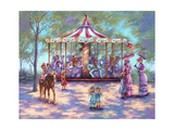 Red Carousel Impressão giclée por Judy Mastrangelo