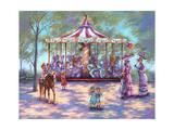 Red Carousel Giclee Print by Judy Mastrangelo