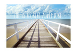 Life Is a Great Adventure Stampa giclée di Tina Lavoie