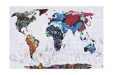 Map Graffiti Giclee Print by Mark Ashkenazi
