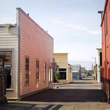 Fort Bragg Alleyway Fotoprint van Lance Kuehne