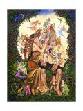 Bottom and Titania Giclee Print by Judy Mastrangelo