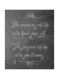 Meaning of Life Chalk Giclee Print by Leslie Wing