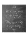 Meaning of Life Chalk Lámina giclée por Leslie Wing
