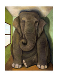 Elephant in a Room Cracks Giclee Print by Leah Saulnier