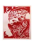 Bandana Man Red Giclee-trykk av  Abstract Graffiti