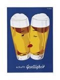Beer Creates Sociability Giclée-tryk af Vintage Lavoie