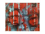 Boxer V Alphabet Giclee-trykk av  Abstract Graffiti