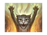 Pyscho Cat Giclee Print by Jeff Haynie