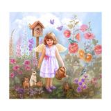 Gardening Angel Impressão giclée por Judy Mastrangelo