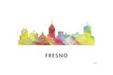 Fresno California Skyline Reproduction procédé giclée par Marlene Watson