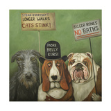Dogs on Strike Giclee Print by Leah Saulnier
