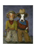 Real Cowboys Giclee Print by Leah Saulnier