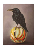 Crow on a Marble Giclee Print by Leah Saulnier