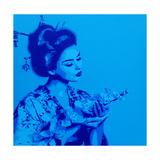 Blue Geisha Giclee Print by  Abstract Graffiti